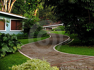 Path on a resort