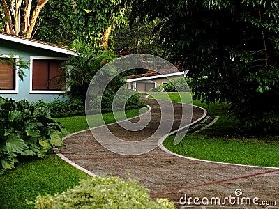 Path on a resort