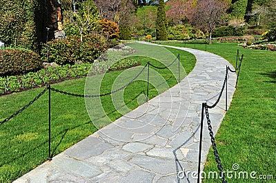 Path in sunken garden