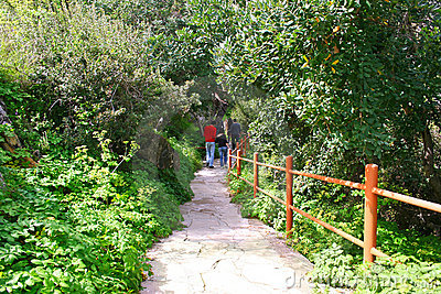 Path to the baths of Aphrodite