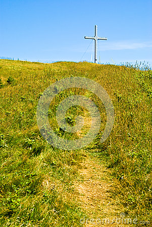 Path to the cross