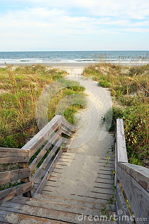 Free Path To The Beach Royalty Free Stock Images - 80057009
