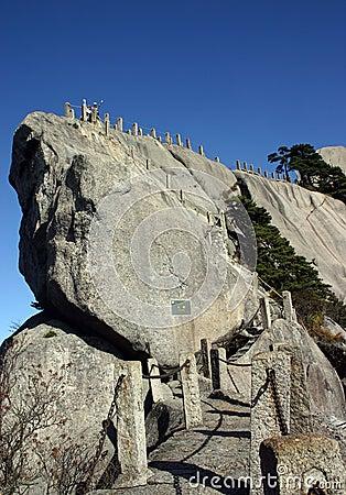 Path up rocky mountain