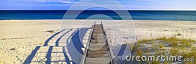 Pathway on beach