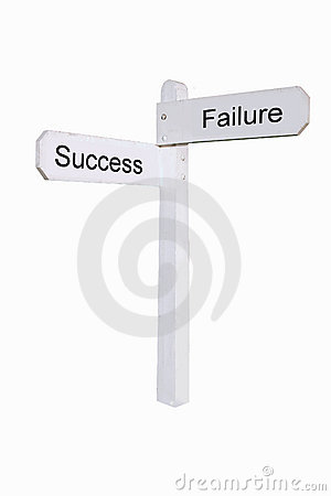 Pathway to success (isolated)