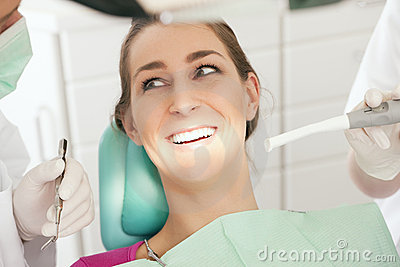 Patient with Dentist - no need to drill