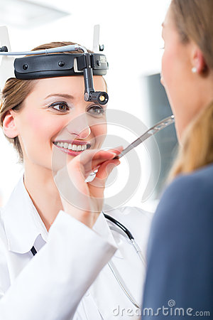 Patient in a examination by doctor in clinic
