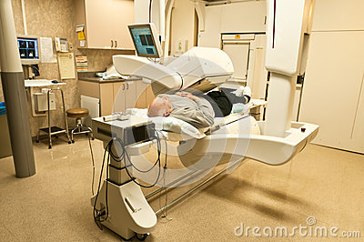 Patient Gamma Camera Bone Scan Royalty Free Stock Image