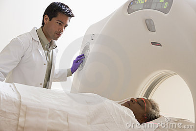 Patient Having A CAT Scan