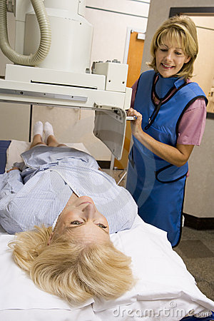 Patient Having An X-Ray