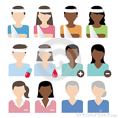 Patient icons vector Vector Illustration