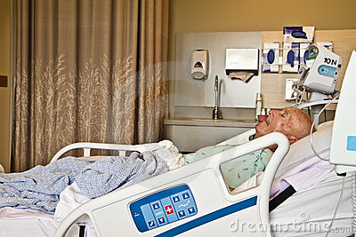 Patient Lying in Hospital Bed