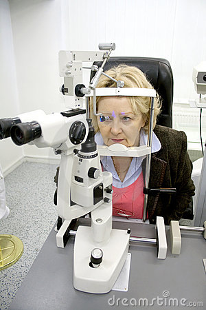 Patient in ophthalmology