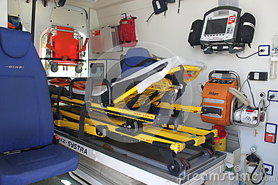 Ambulance interior details Editorial Image