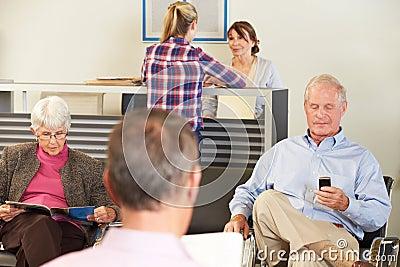 Patients In Doctor s Waiting Room