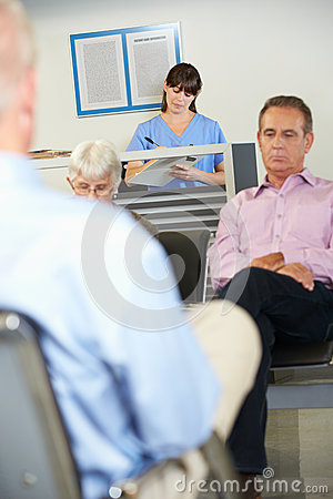Patients In Doctor s Waiting Room