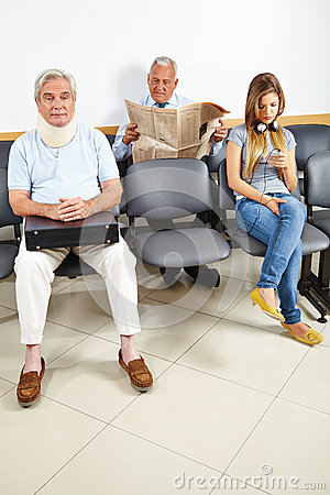 Patients waiting in waiting room