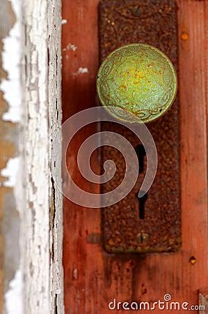 Patina Door knob