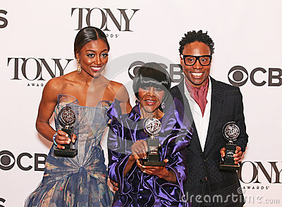 Patina Miller, Cicely Tyson, and Billy Porter Editorial Stock Photo