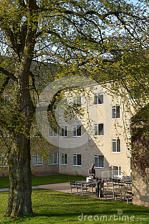 Patio on Aarhus University campus, Denmark Editorial Image