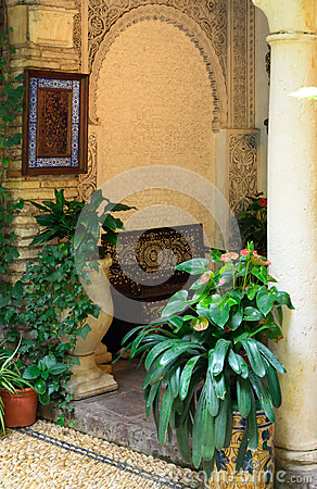 Patio Of The Ancient Jewish House Stock Photos Image