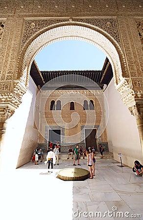 Patio Dorado Alhambra Editorial Photography