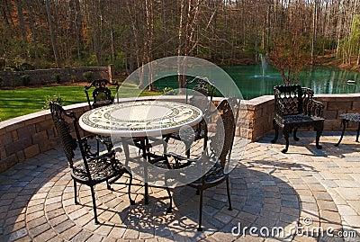 Patio furniture backyard
