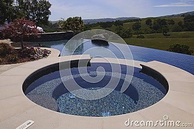 Patio hot tub