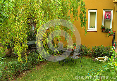 Patio turc de maison photo stock image 51249395 - Maison de vacances iles turques worth ...