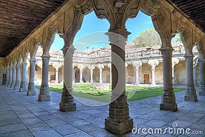 Patio of University of Salamanca, spain