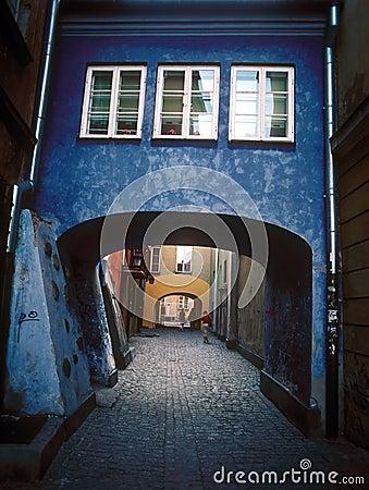 Patio viejo de Varsovia.