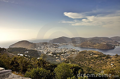 Patmos harbour view