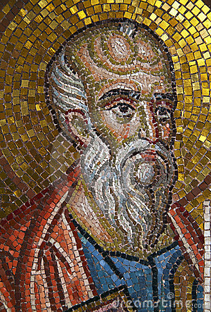 Patmos,  Mosaic portrait of Saint John