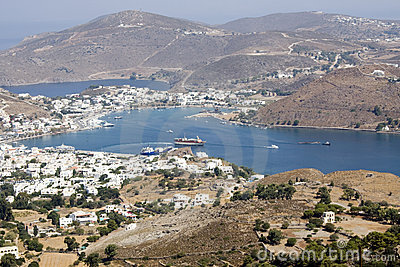Patmos, View On The Town Of Skala Royalty Free Stock Images - Image: 6333209