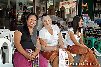 Patong, Thailand: 3 Women Masseurs Editorial Photography