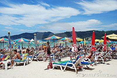 Patong, Thailand: Famed Patong Beach Editorial Stock Photo