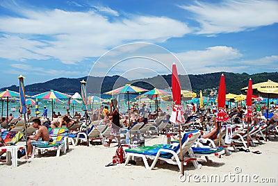 Patong, Thailand: Famed Patong Beach Editorial Stock Photo