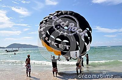 Patong, Thailand: Paragliding Parachute Editorial Stock Image