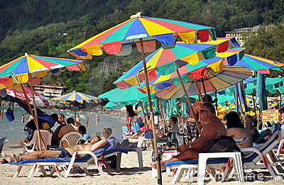 Patong, Thailand: Patong Beach Scene Editorial Stock Photo