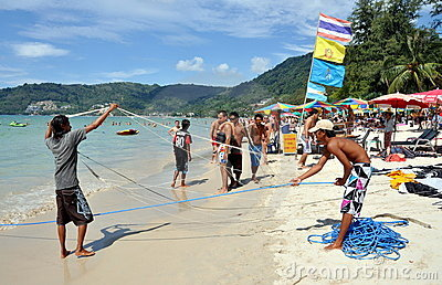 Patong, Thailand: Thai Beach Boys Editorial Stock Photo