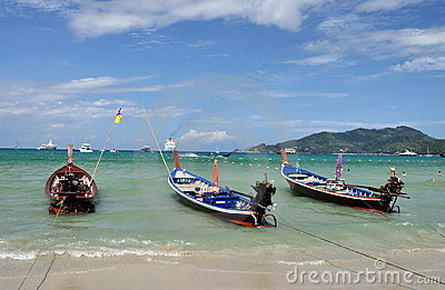 Patong, Thailand: Thai Long Boats Editorial Photo