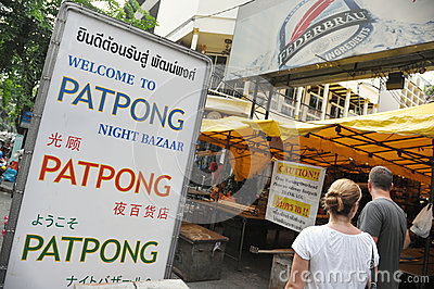 Patpong Road in Bangkok Editorial Stock Image