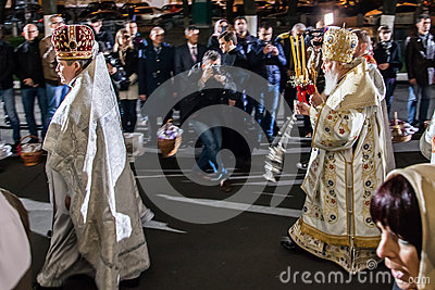 Patriarch Filaret. Easter 2014 in Ukraine 22.04.2014 // St Volod Editorial Stock Photo