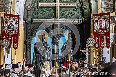 Patriarch Filaret. Easter 2014 in Ukraine 22.04.2014 // St Volod Editorial Stock Photo