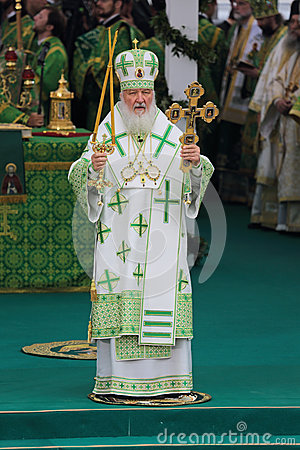 Patriarch Kirill of Moscow Editorial Stock Photo