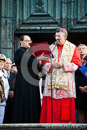 Patriarch Moraglia-Festa del Redentore Editorial Image
