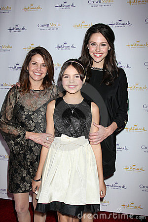Patricia Riley, Baillee Madison, Kaitlin Riley arrives at  the Hallmark Channel TCA Party Winter 2012 Editorial Image