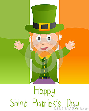Patrick s Card with Leprechaun