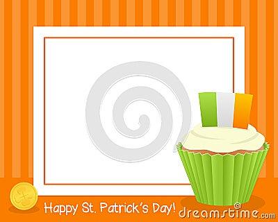 Patrick s Day Cupcake Horizontal Frame