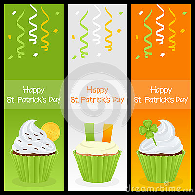 Patrick s Day Cupcake Vertical Banners